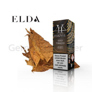 ELDA 4U e-Liquid GOLD TOBACCO 1 x 10ml